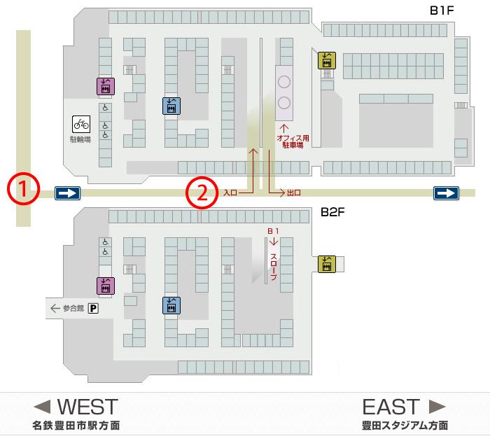 コモ・スクエア 駐車場MAP